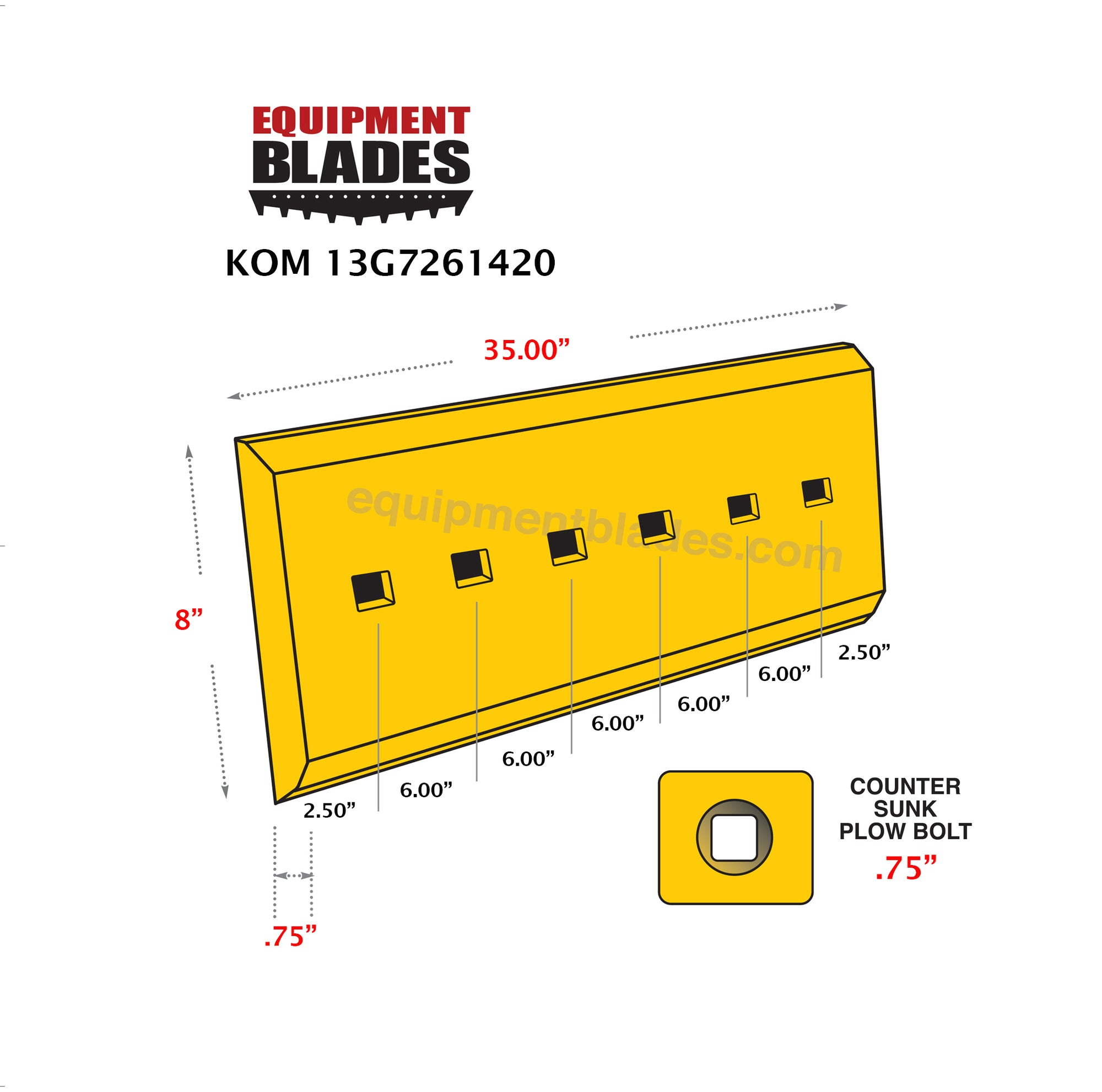 KOM 13G7261420-Bull Dozer blades-Equipment Blades Inc-Equipment Blades Inc