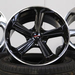 "Genuine VW ""Sportline"" 18"" Gloss Black Alloy Wheels"