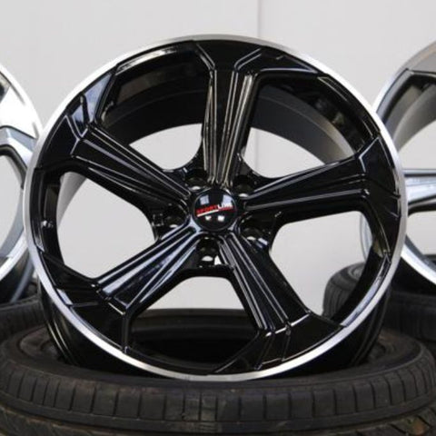 "VW T5 T5.1 T6 T6.1 ""Sportline"" 20"" Gloss Black Alloy Wheels"