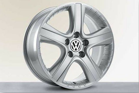 "Genuine VW 18"" ""Dakar"" Silver Alloy Wheels"