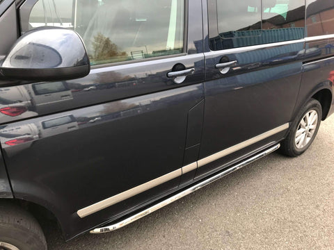 VW T5 T6 Angular OE Style Stainless Steel Side Bars