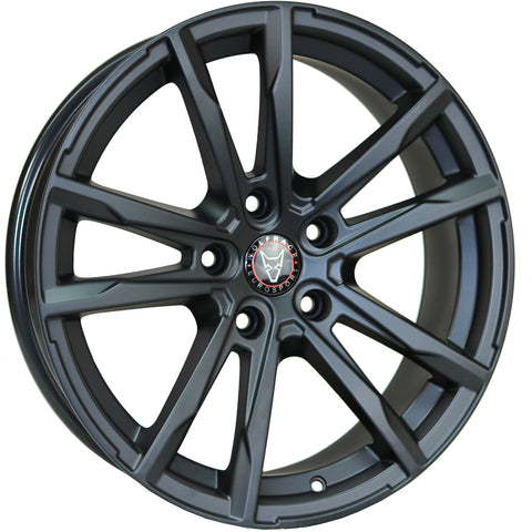 "VW T5 T5.1 T6 T6.1 18"" ""Dortmund"" Matt Black Alloy Wheels"