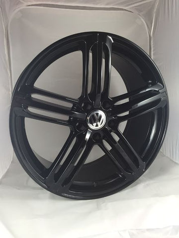 "VW T5 T5.1 T6 T6.1 20"" RS6 Gloss Black Alloy Wheels"