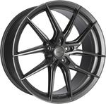 "VW T5 T6 18"" Calibre ""Verso"" Matt Gunmetal Alloy Wheels"