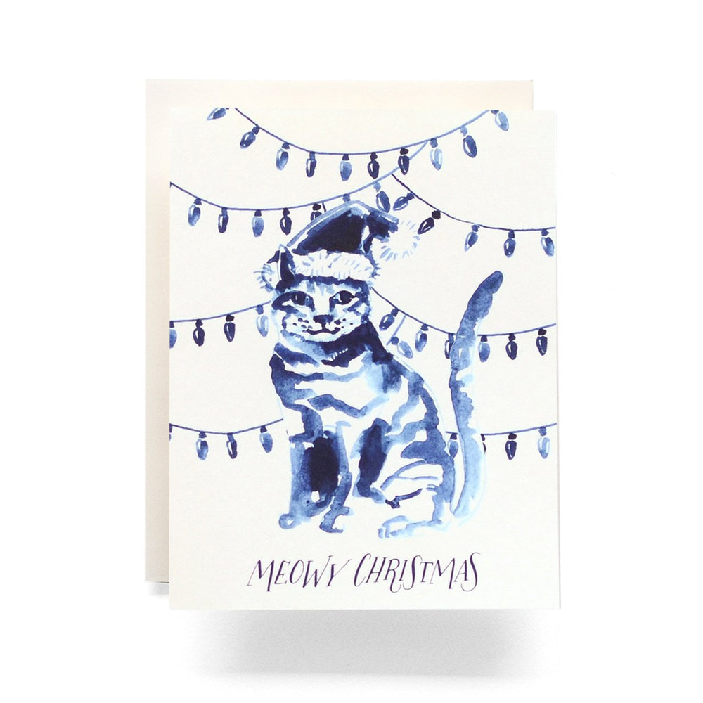 Antiquaria Indigo Meowy Christmas Card Beachdashery® Jewelry