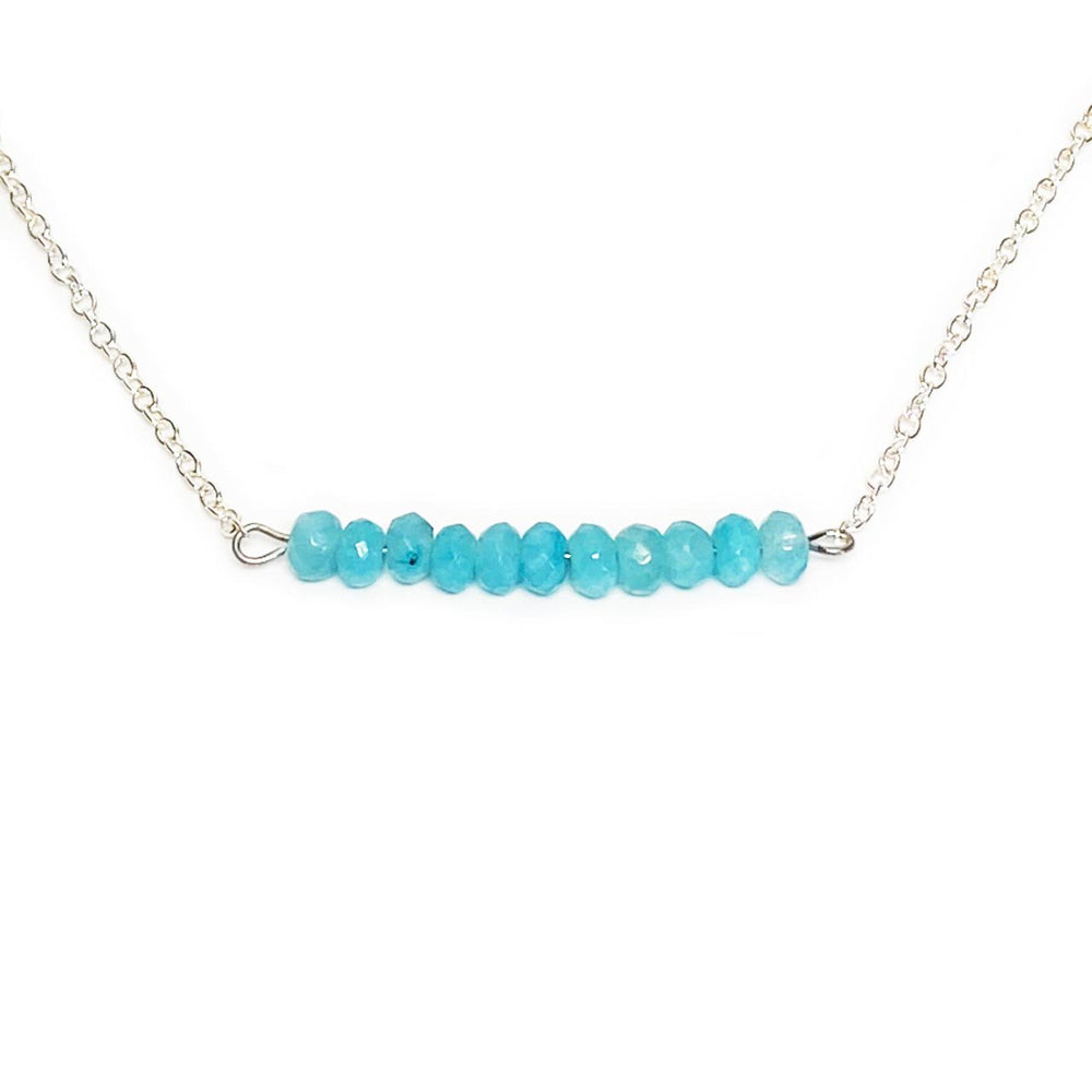Aquamarine Gemstone Bar Necklace Beachdashery® Jewelry