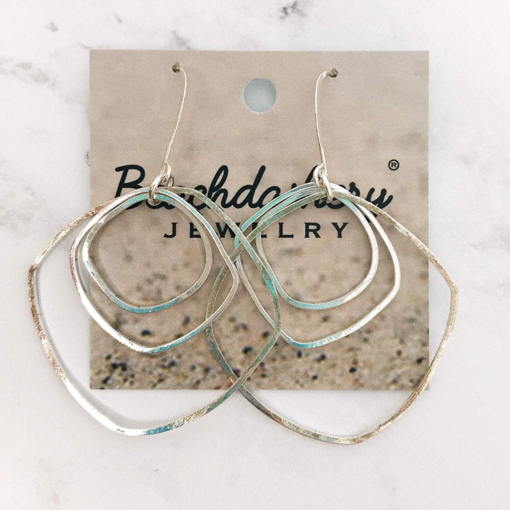 Artisan Hammered Triple Hoop Earrings Beachdashery® Jewelry