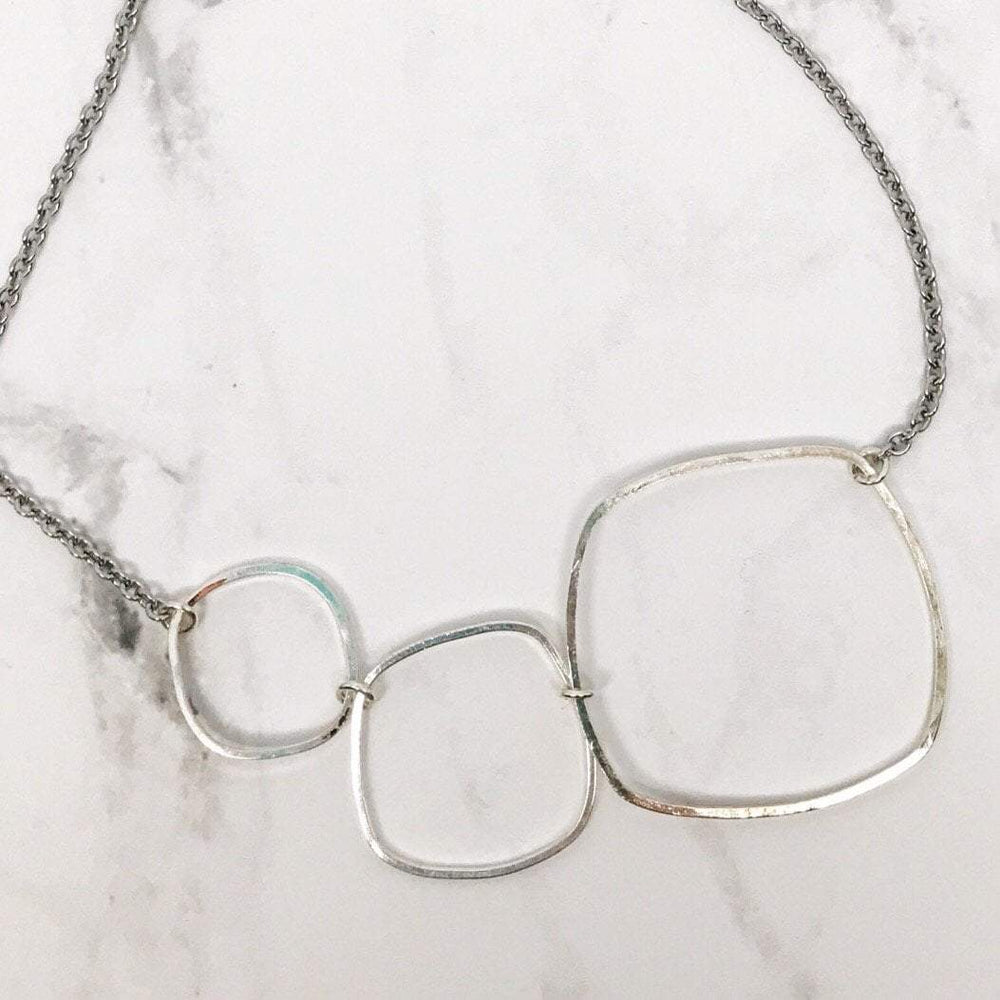 Artisan Hammered Triple Hoop Necklace Beachdashery® Jewelry