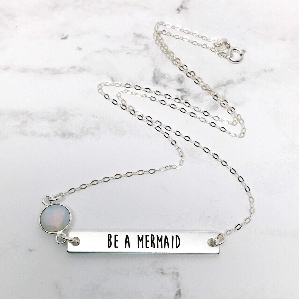Be A Mermaid Bar Necklace