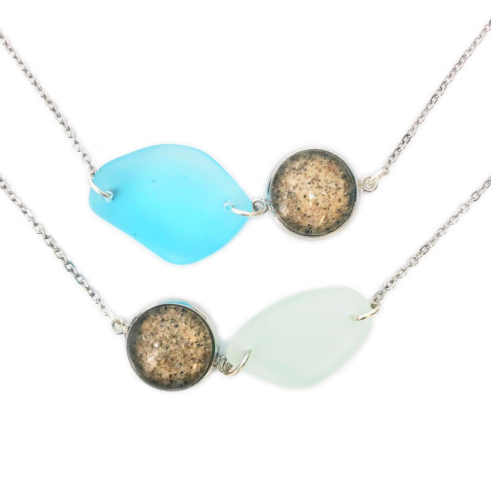 Beach Sand and Sea Glass Necklace Beachdashery® Jewelry