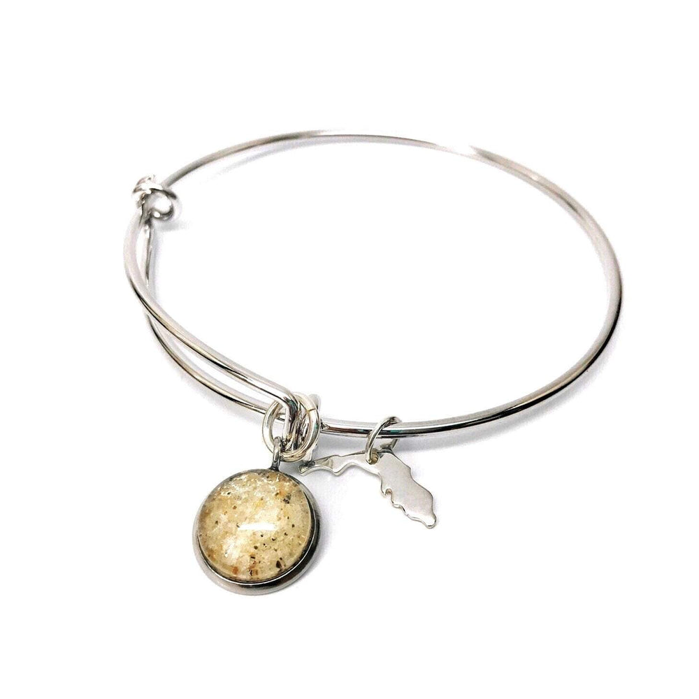 Beach Sand Bangle with State Charm Beachdashery