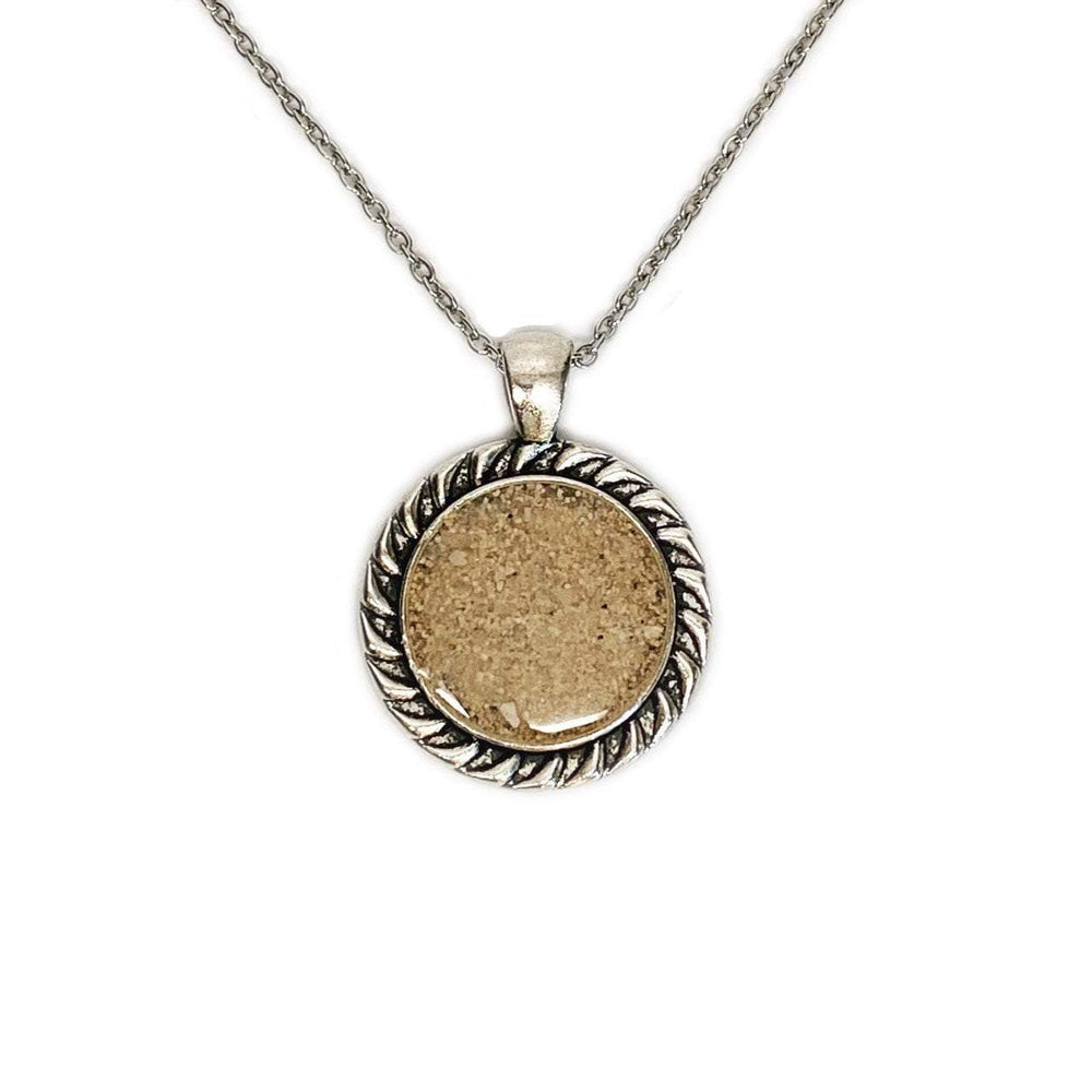 Beach Sand Framed Circle Necklace Beachdashery