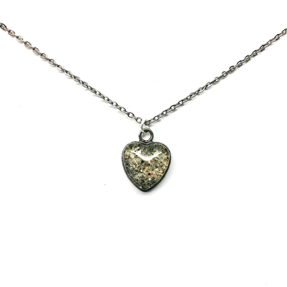 Beach Sand Heart Charm Necklace Beachdashery® Jewelry