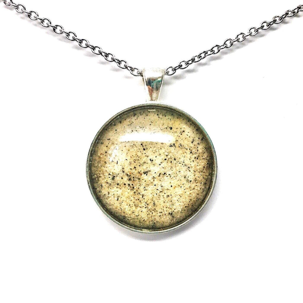 Beach Sand Large Round Necklace