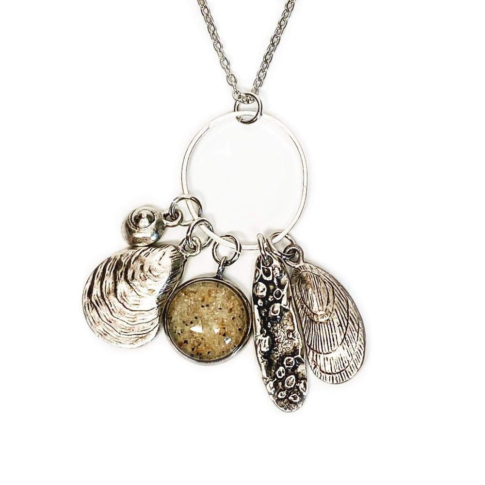 Beach Sand Low Tide Charm Necklace