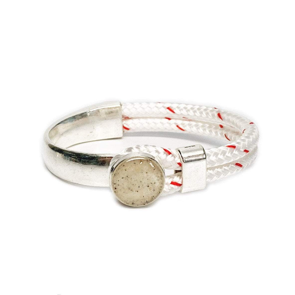 Load image into Gallery viewer, Beach Sand Rope Bracelet in White Beachdashery® Jewelry