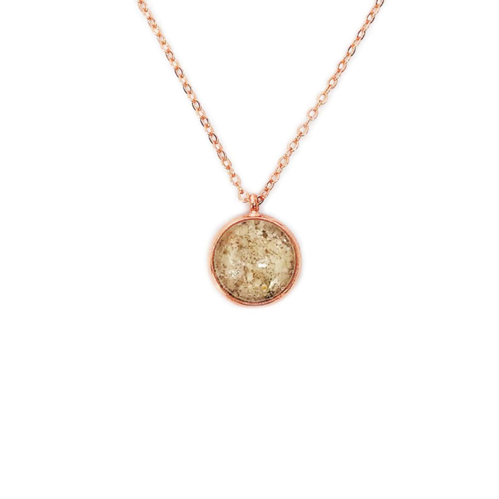 Beach Sand Small Round Necklace in Rose Gold Beachdashery® Jewelry