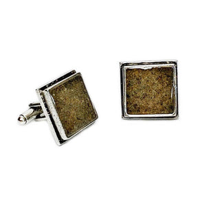Load image into Gallery viewer, Beach Sand Square Cufflinks Beachdashery® Jewelry