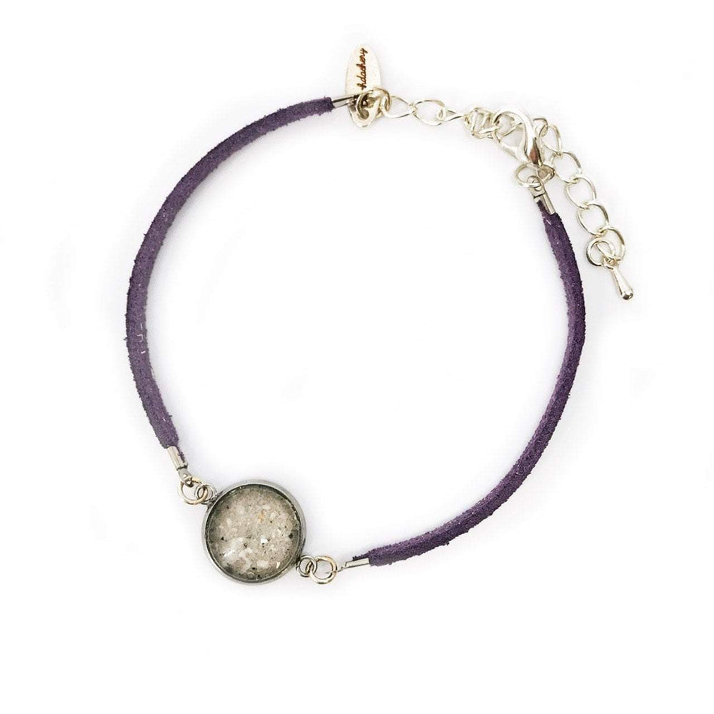 Load image into Gallery viewer, Beach Sand Suede Bracelet in Purple Beachdashery® Jewelry