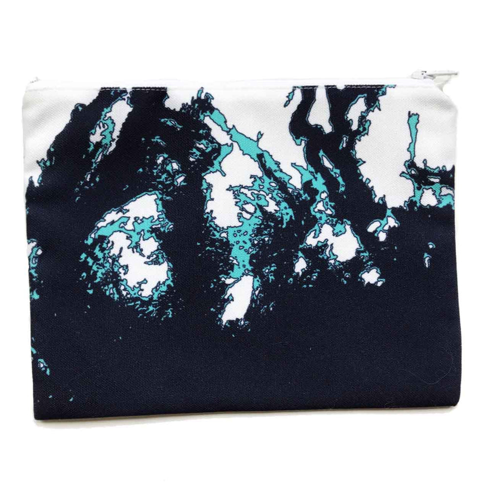Coastline Maine Coast Zippered Pouch in Aqua Navy Beachdashery® Jewelry