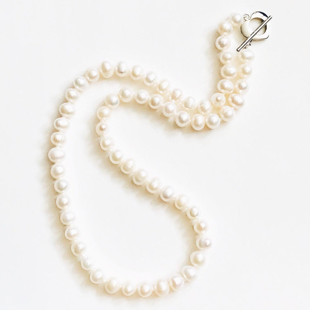 Freshwater Pearl Necklace in Cream