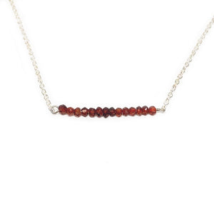 Garnet Gemstone Bar Necklace Beachdashery® Jewelry