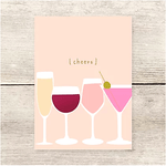 Haven Paperie Cheers Drinks Card