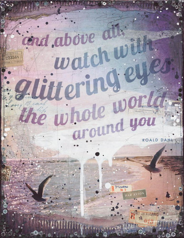 Load image into Gallery viewer, Mae Chevrette Art Print - Watch With Glittering Eyes Beachdashery® Jewelry