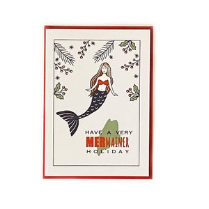 Maine Holiday Mermaid Card Beachdashery Jewelry