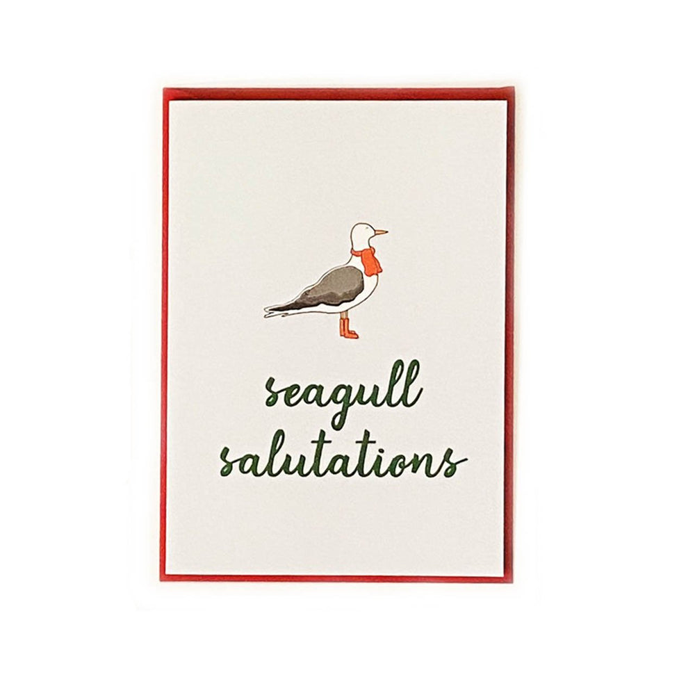 Maine Holiday Seagull Card