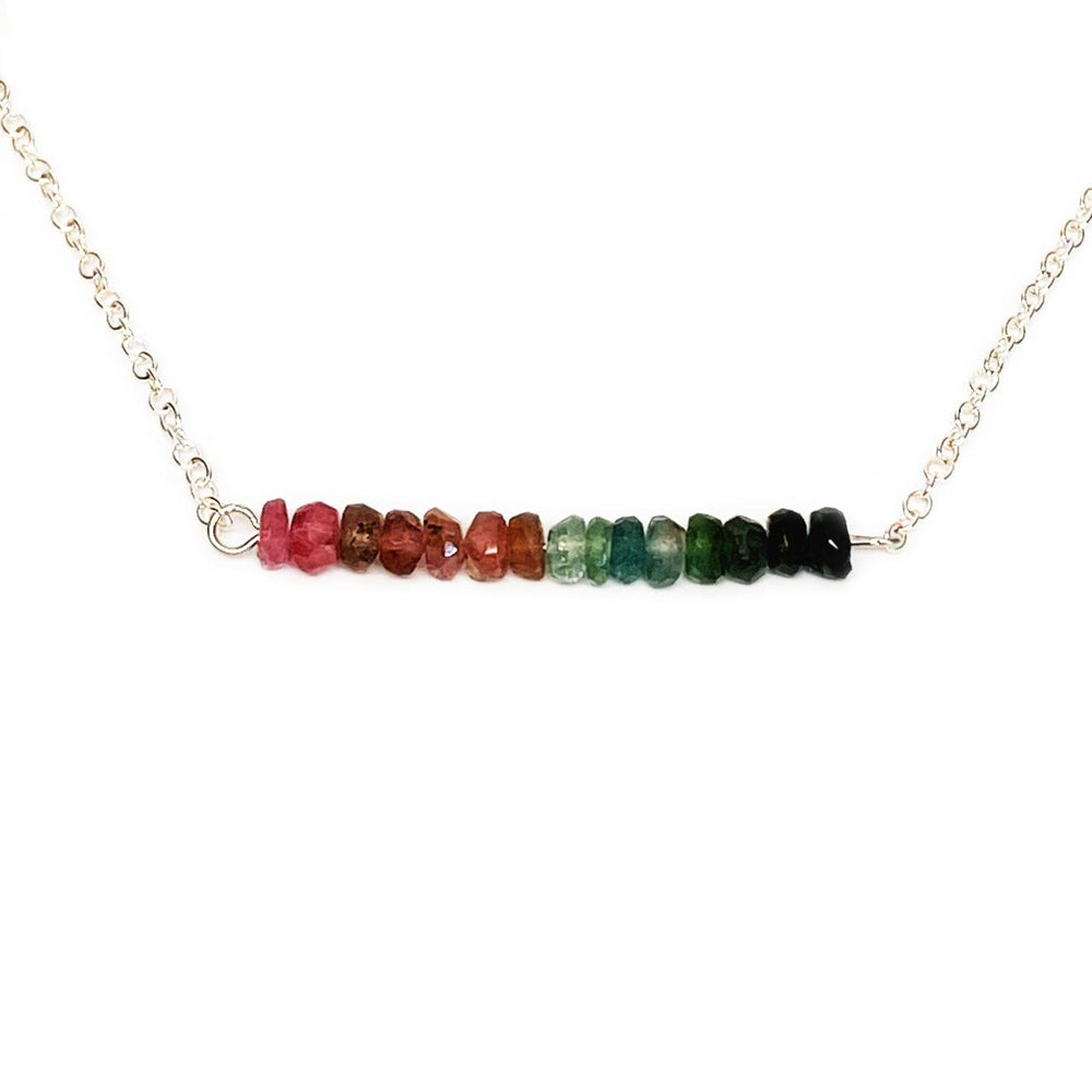 Maine Tourmaline Gemstone Bar Necklace