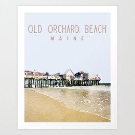 Old Orchard Beach Maine Print Beachdashery Jewelry