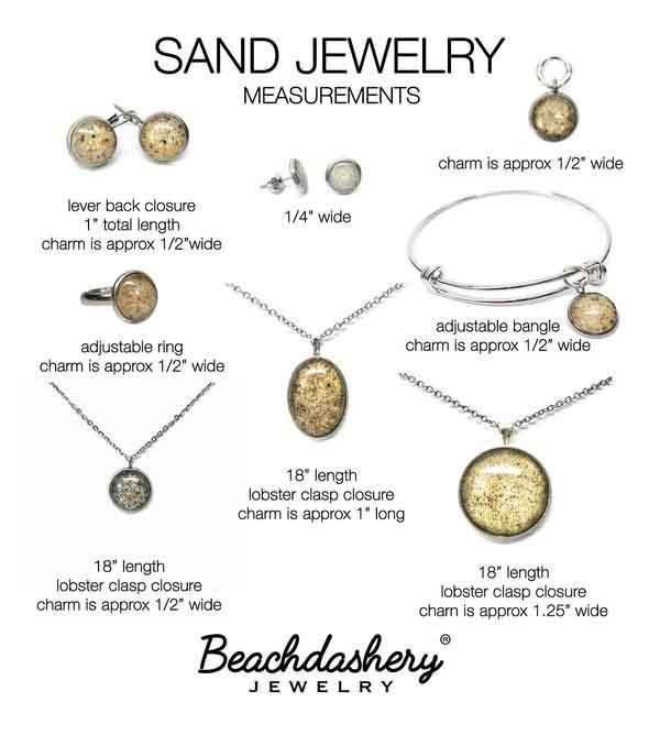 Load image into Gallery viewer, Ortley Beach New Jersey Sand Jewelry Beachdashery