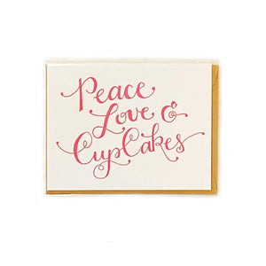 Parrott Design Peace Love Cupcakes Card Beachdashery Jewelry