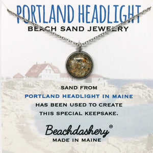 Load image into Gallery viewer, Portland Headlight Maine Sand Jewelry Beachdashery