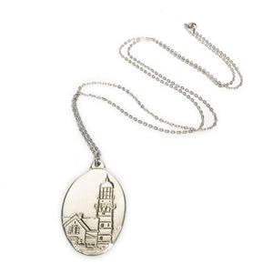 Load image into Gallery viewer, Raven Tree Pewter Two Lighthouse Pendant Beachdashery® Jewelry