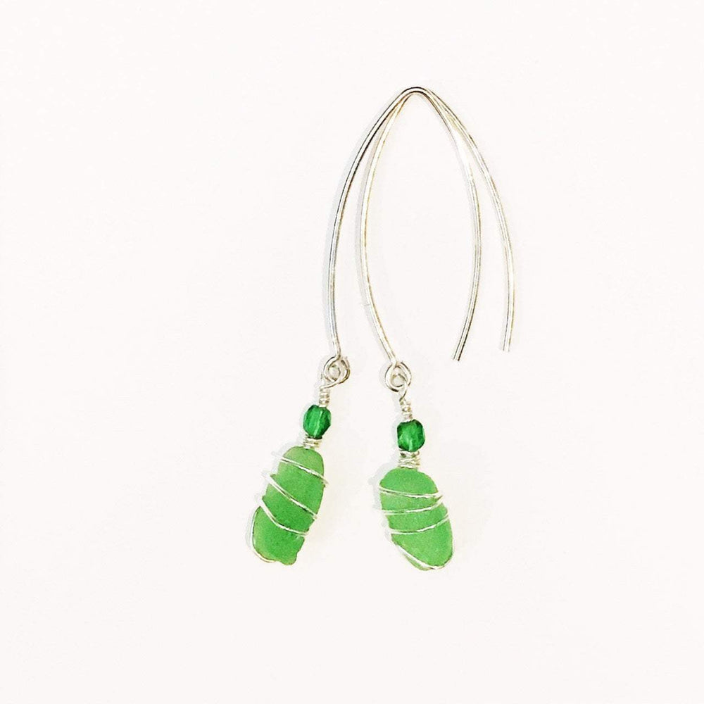Sea Charms Maine Seaglass Earrings Limited Edition 1001 Beachdashery® Jewelry