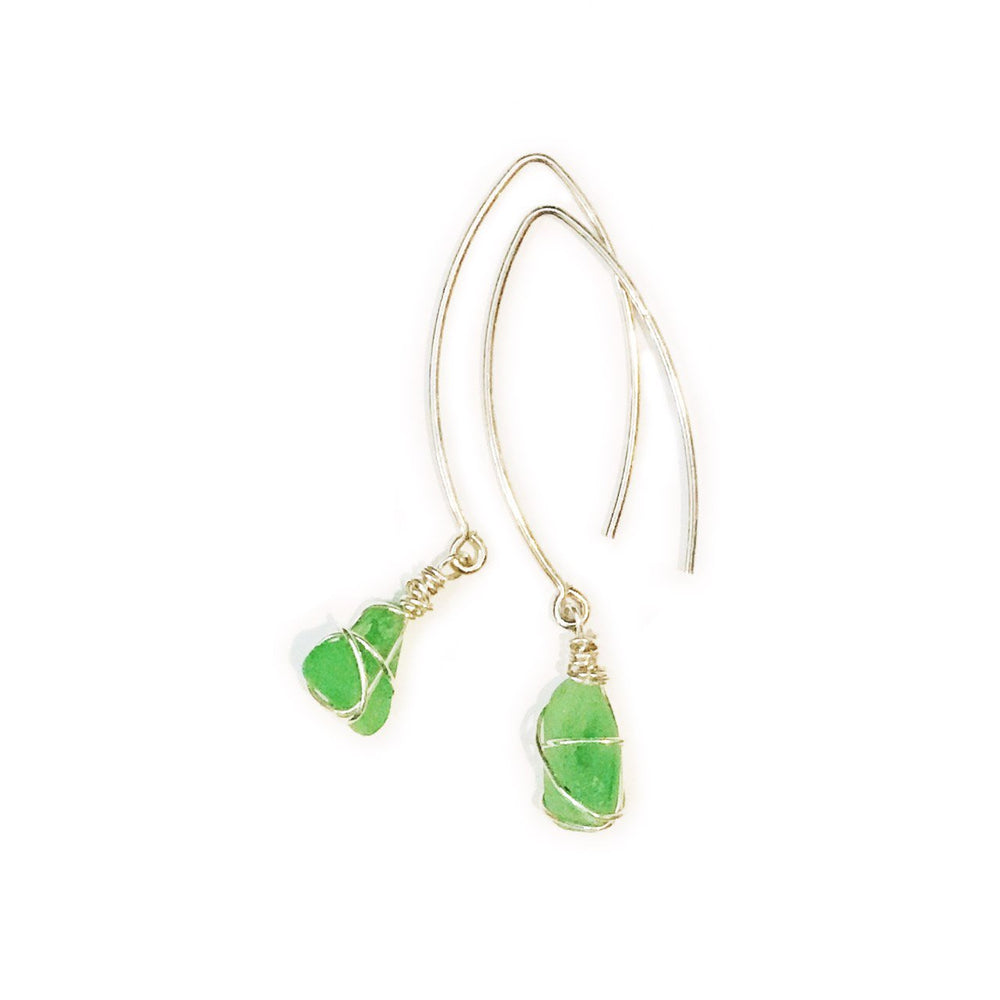 Sea Charms Maine Seaglass Earrings Limited Edition 1005