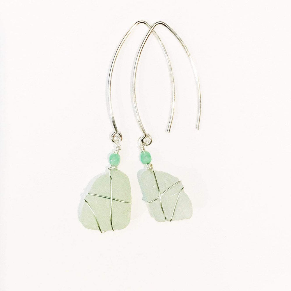 Sea Charms Maine Seaglass Earrings Limited Edition 1009 Beachdashery® Jewelry