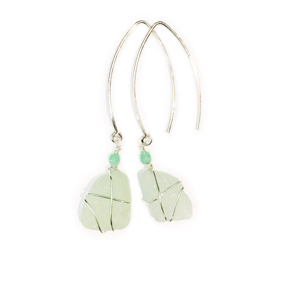Sea Charms Maine Seaglass Earrings Limited Edition 1009