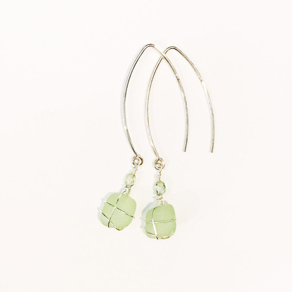 Sea Charms Maine Seaglass Earrings Limited Edition 1010 Beachdashery® Jewelry