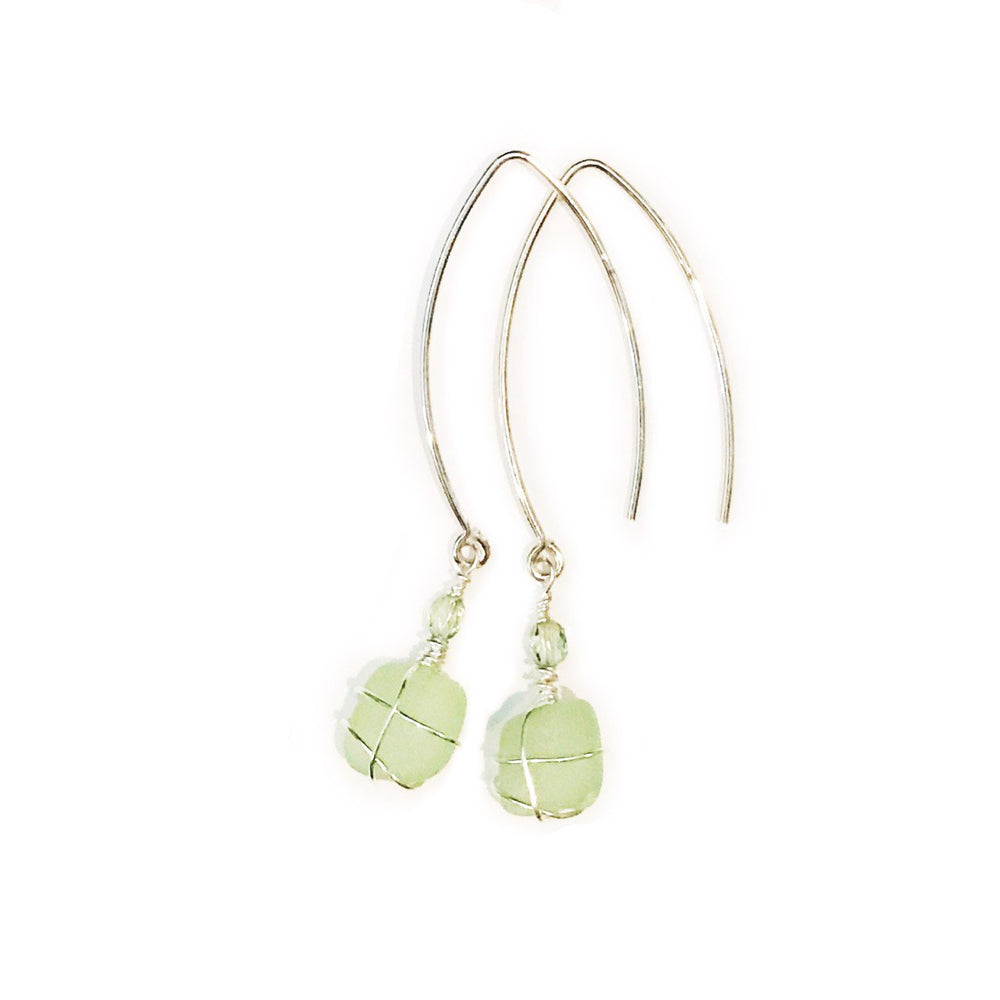 Sea Charms Maine Seaglass Earrings Limited Edition 1010