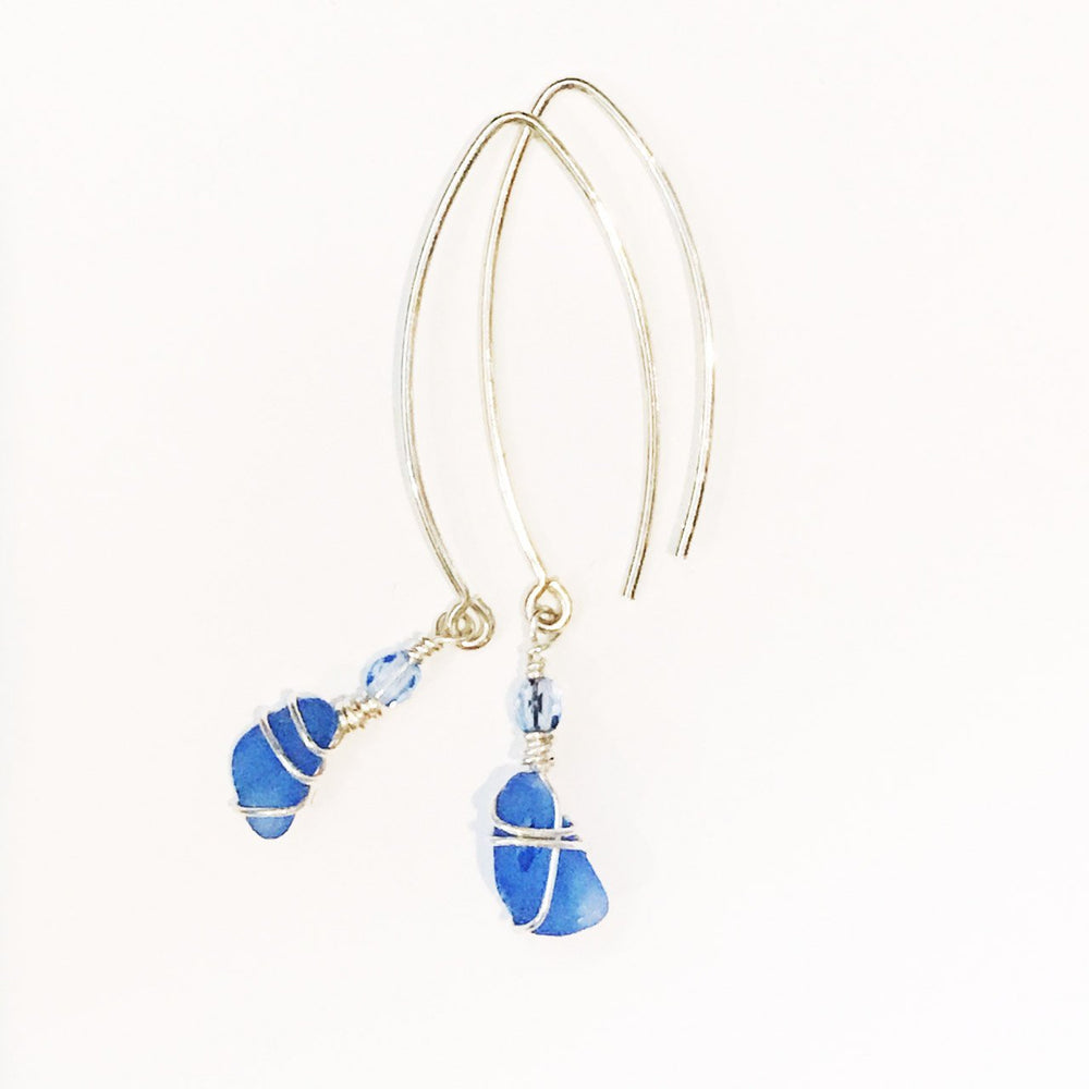Sea Charms Maine Seaglass Earrings Limited Edition 1019 Beachdashery® Jewelry
