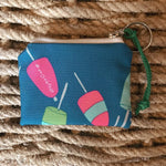 Sea Crow Co. Coin Purse in Blue Buoy