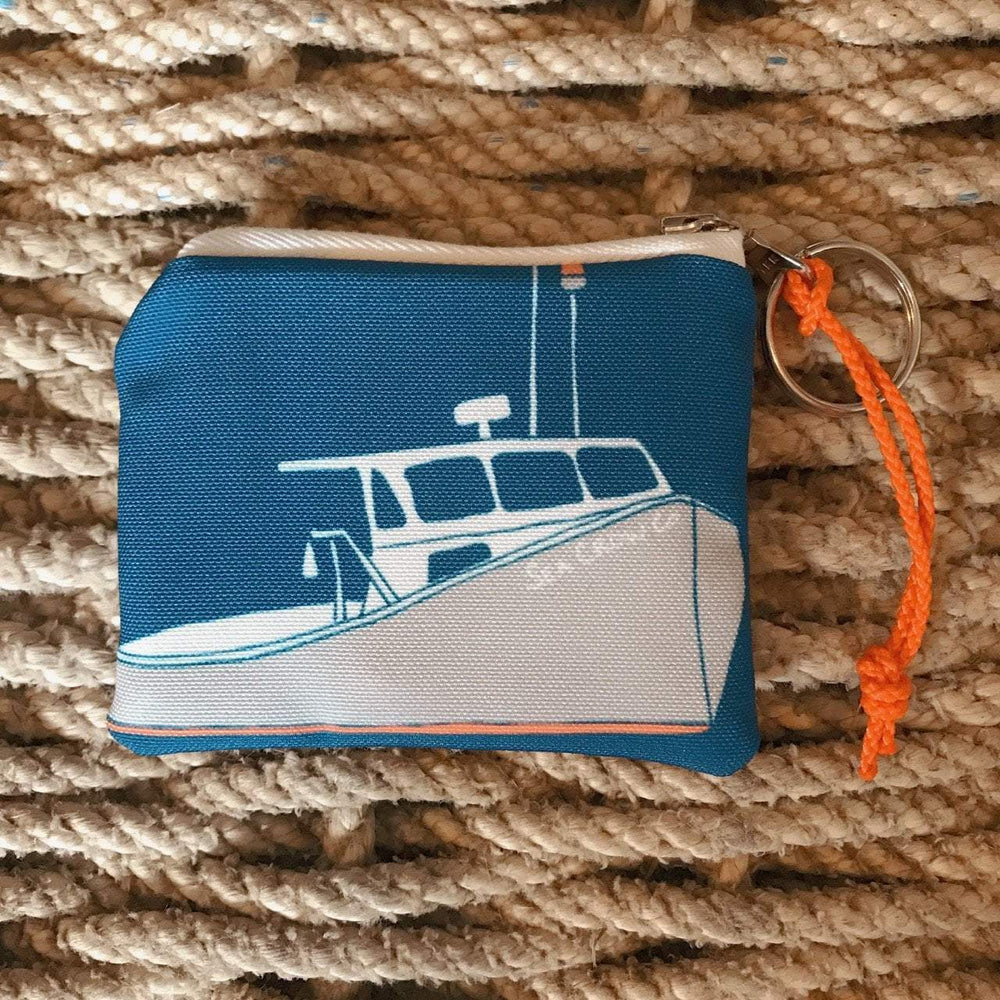 Sea Crow Co. Coin Purse in Blue Lobster Boat