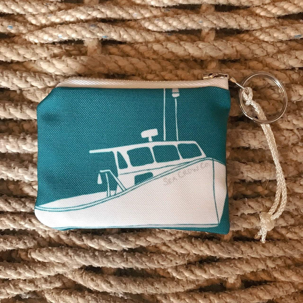Sea Crow Co. Coin Purse in Teal Lobster Boat