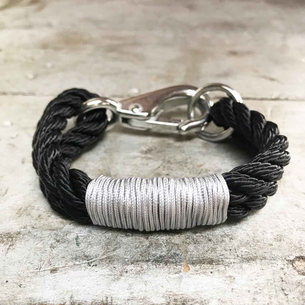 Sea Ropes Maine Metallic Black Bracelet Beachdashery® Jewelry