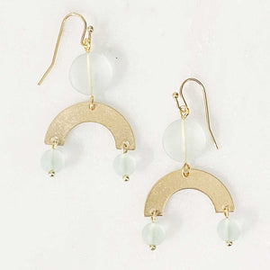 Load image into Gallery viewer, Seaglass Arch Dangle Earrings in Seafoam Beachdashery® Jewelry