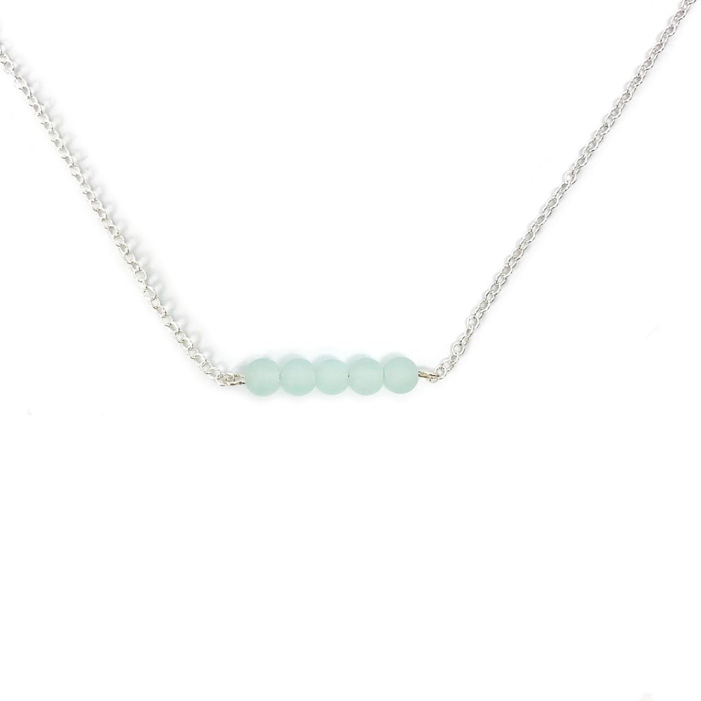 Seaglass Bar Necklace in Seafoam Beachdashery