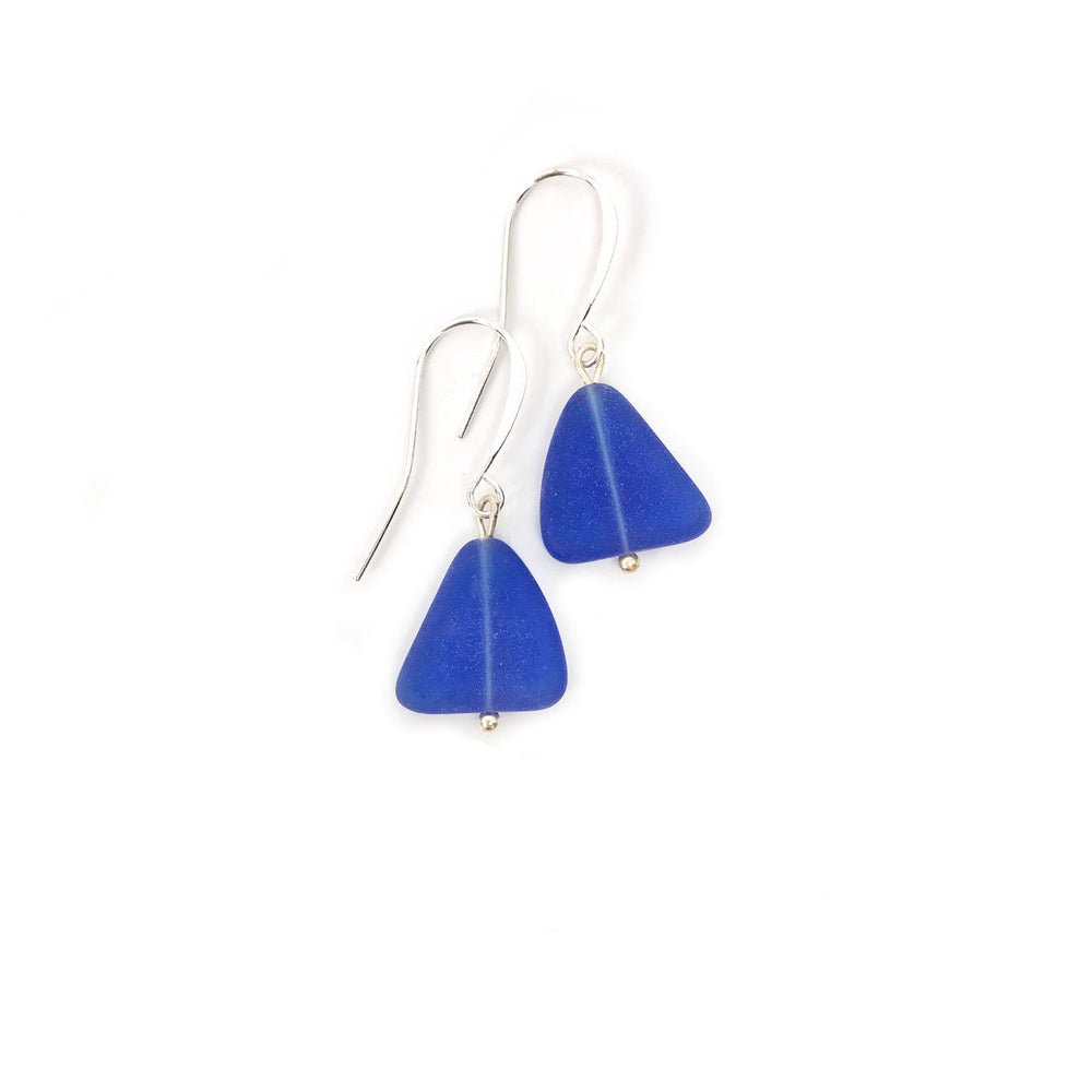 Load image into Gallery viewer, Seaglass Nugget Earrings in Cobalt Beachdashery® Jewelry